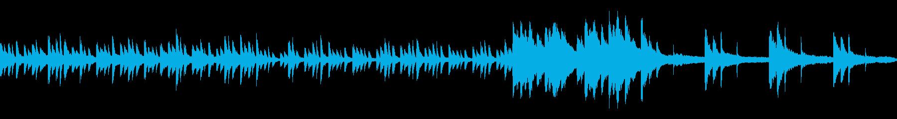 水のピアノ 涼しげ生演奏 ループ素材の再生済みの波形