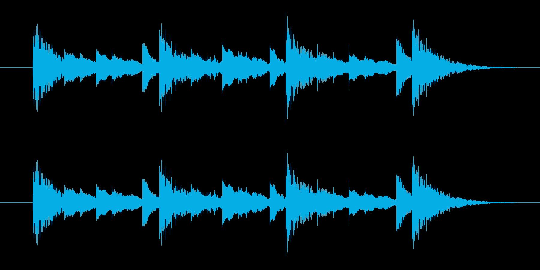 お知らせ音・合図の音の再生済みの波形