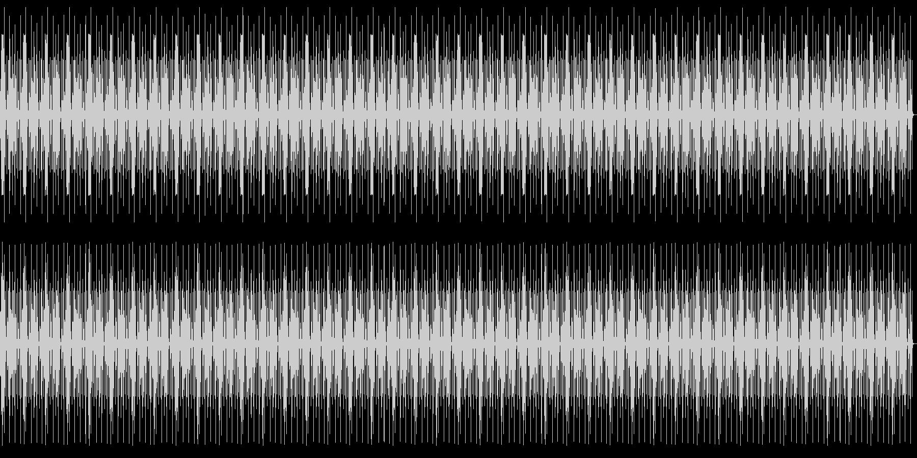 淡々としたシュールでコミカルなリズムの未再生の波形