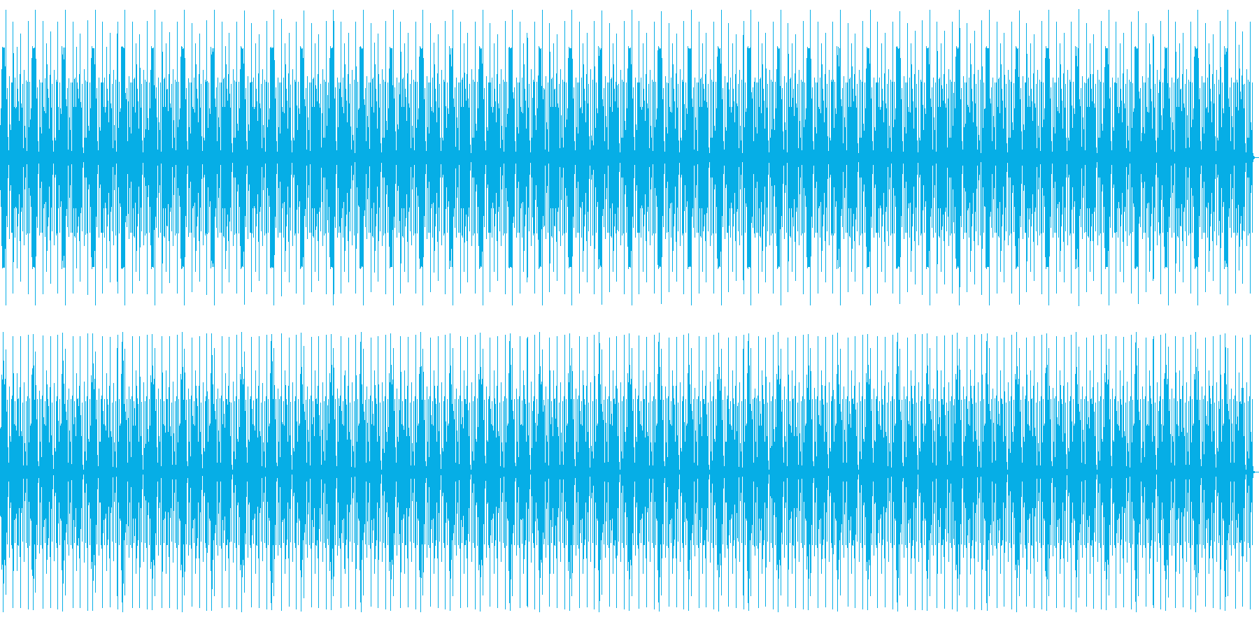 淡々としたシュールでコミカルなリズムの再生済みの波形