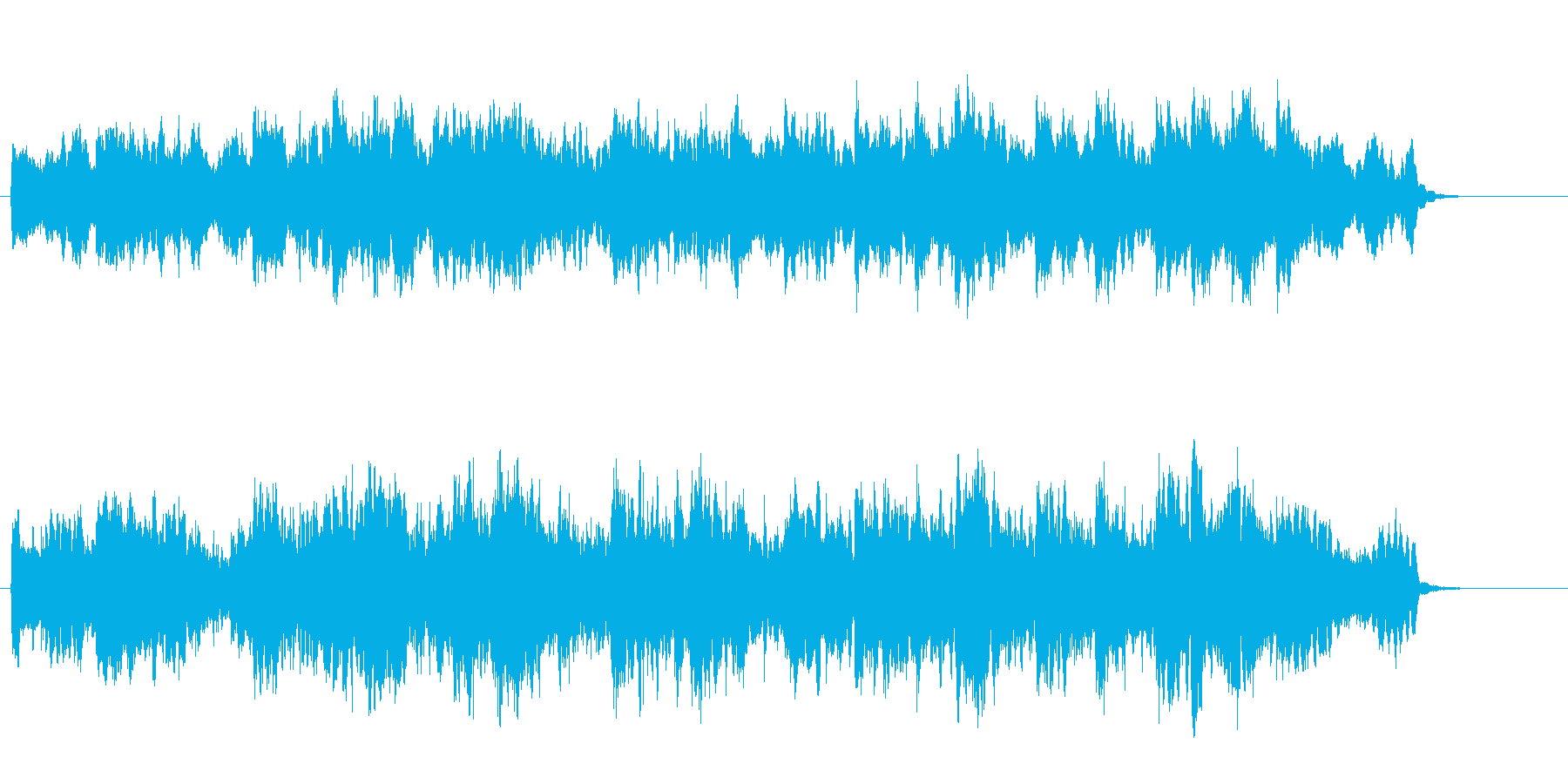 夜の星のリラクゼーション系アンビエントの再生済みの波形