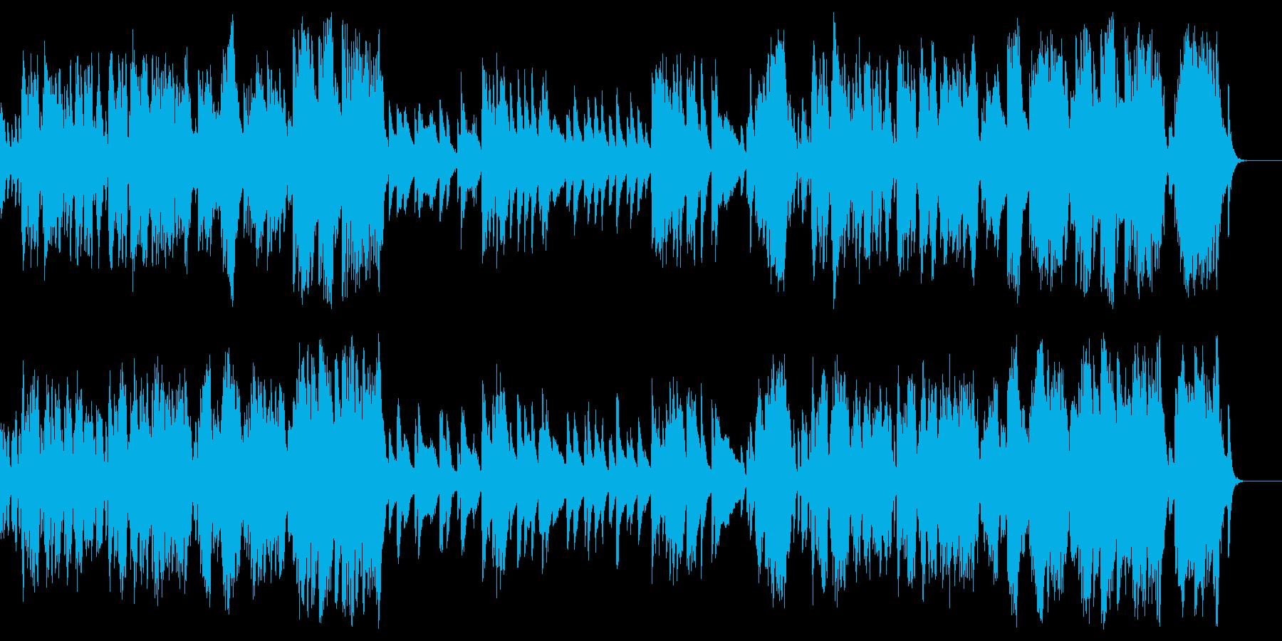 軽快でかわいい子猫のピアノソロBGMの再生済みの波形