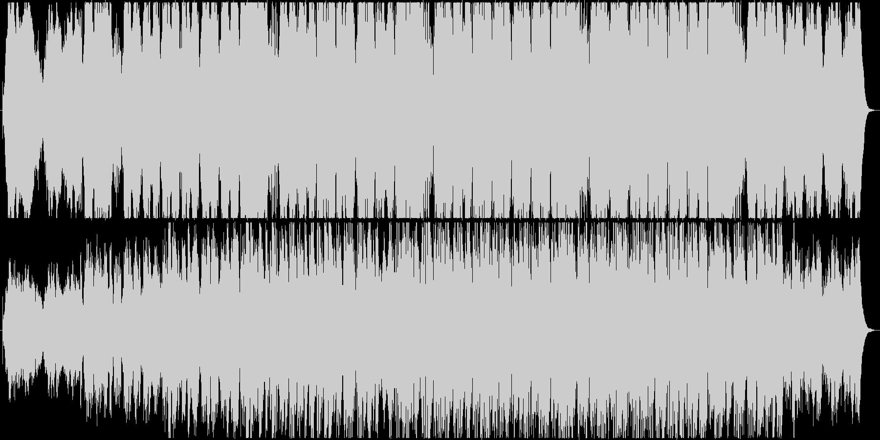 ナレーションを活かす淡々としたエレクトロの未再生の波形