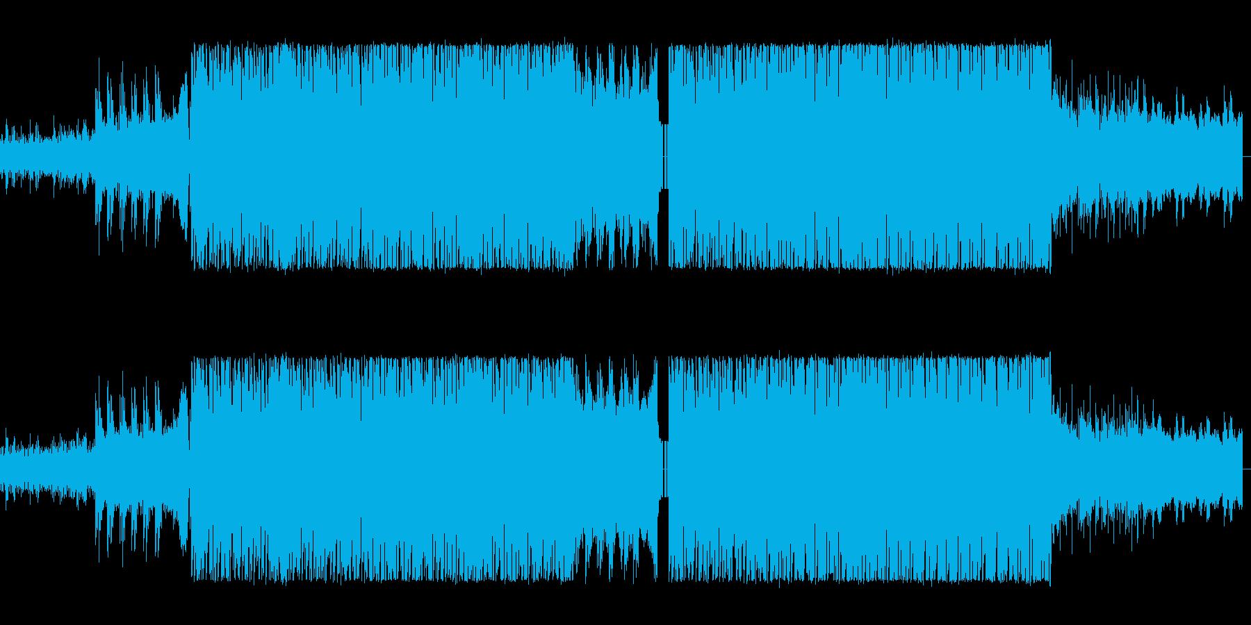 シンセサイザーが複雑に入り組んだ悩ましさの再生済みの波形