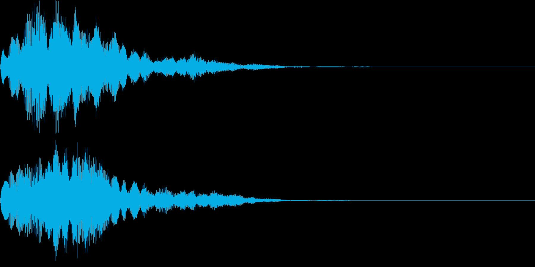 サウンドロゴ44_ベル系の再生済みの波形