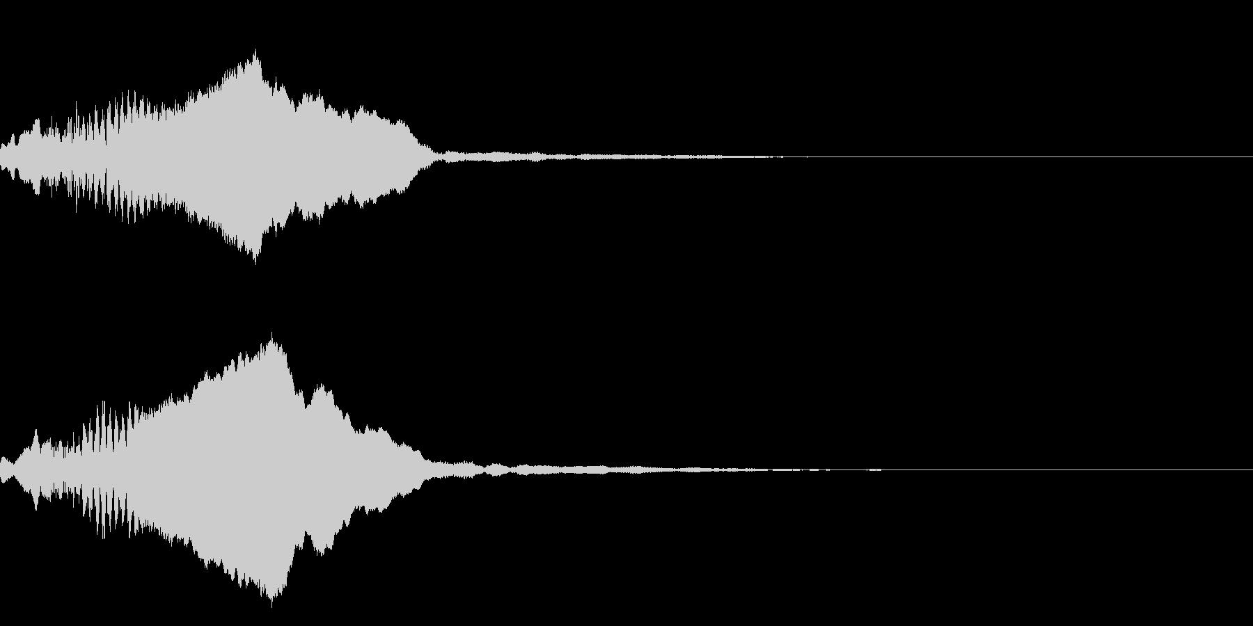 和風な笛(尺八)のインパクト ジングル1の未再生の波形