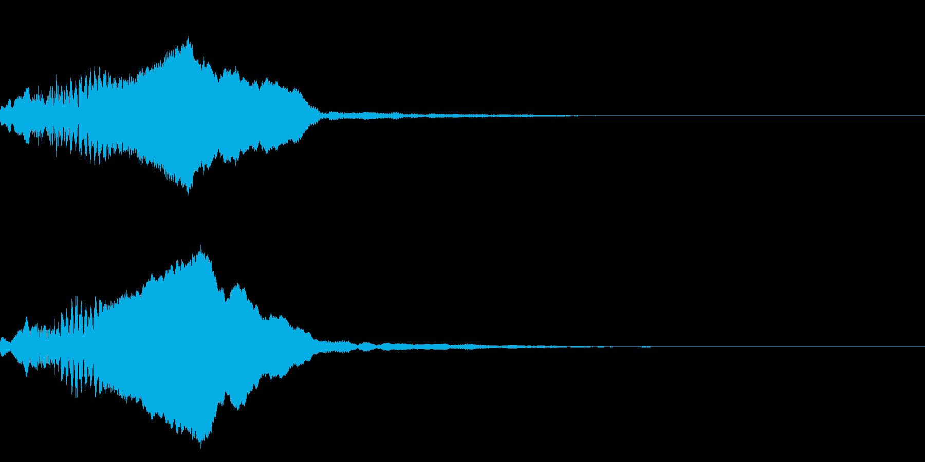 和風な笛(尺八)のインパクト ジングル1の再生済みの波形