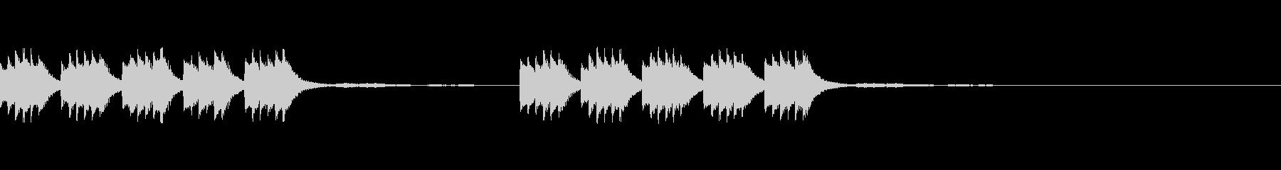 着信音、お知らせ音、アラーム音の未再生の波形