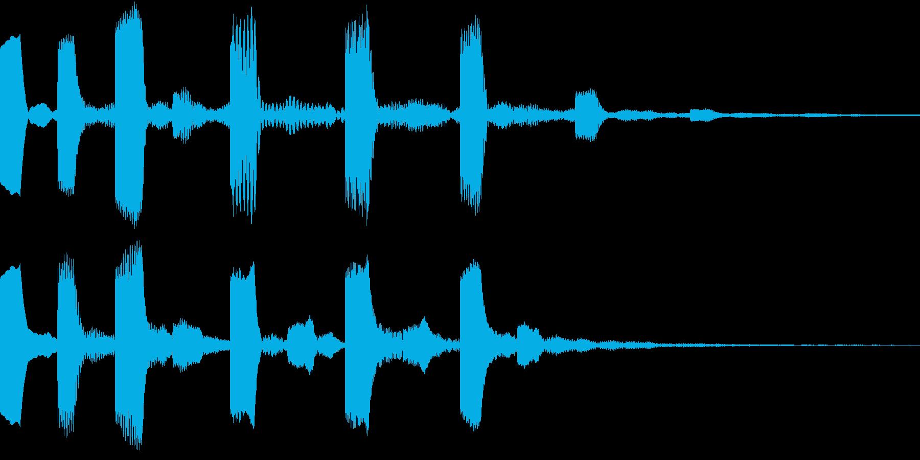 シンセ、テクノ、ピコピコ効果音1の再生済みの波形