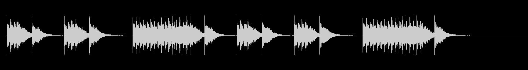 マーチングバンドのスネアリズム2の未再生の波形