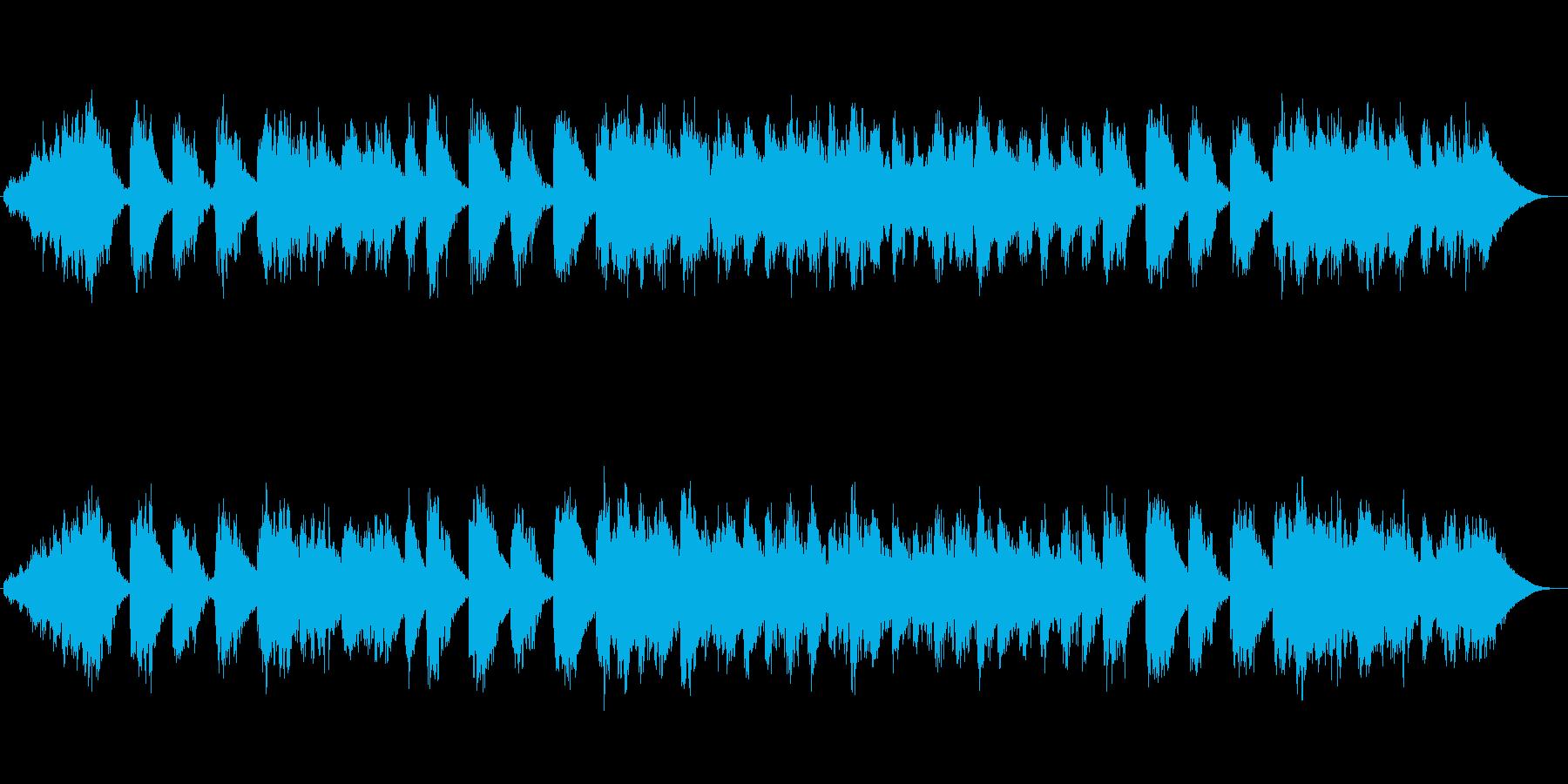 幻想的で安らぎのヒーリングミュージックの再生済みの波形