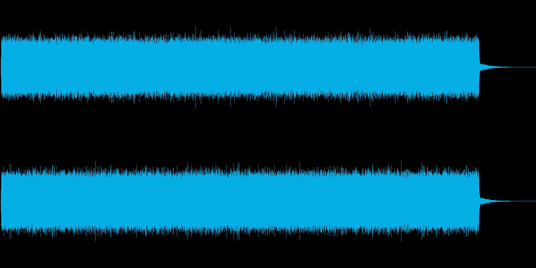 ザーーーーーー(TVの砂嵐のノイズです)の再生済みの波形