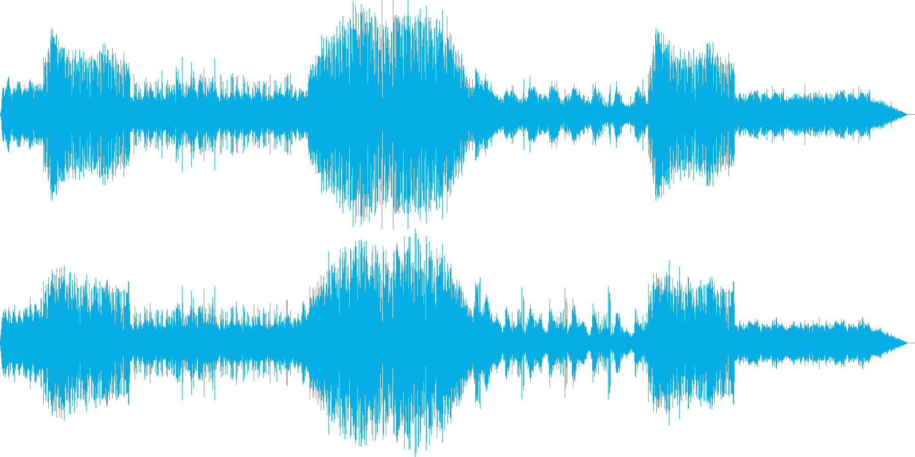 エモーショナルなアンビエントの再生済みの波形