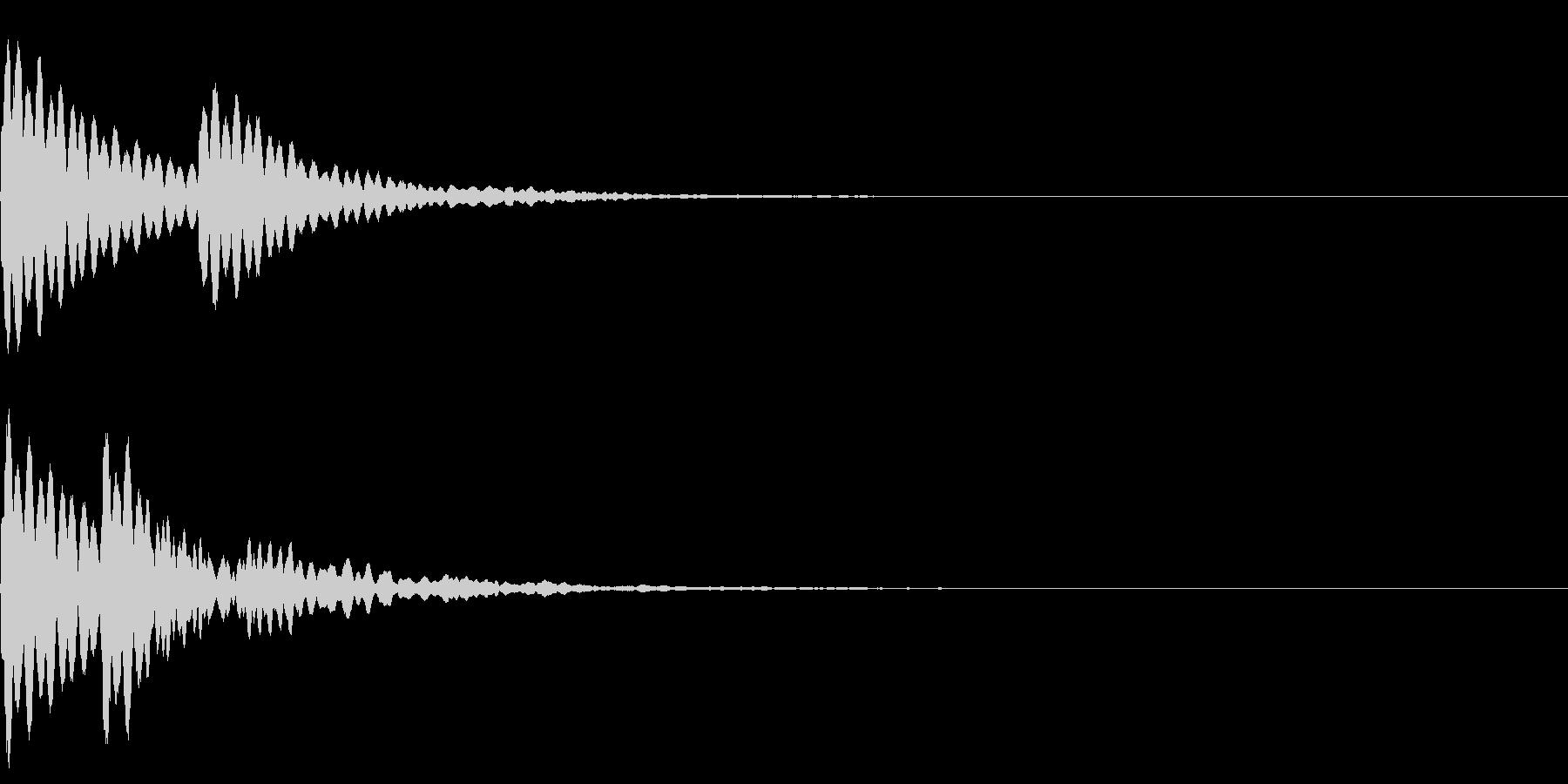 水 波紋 水面 音の広がりの未再生の波形