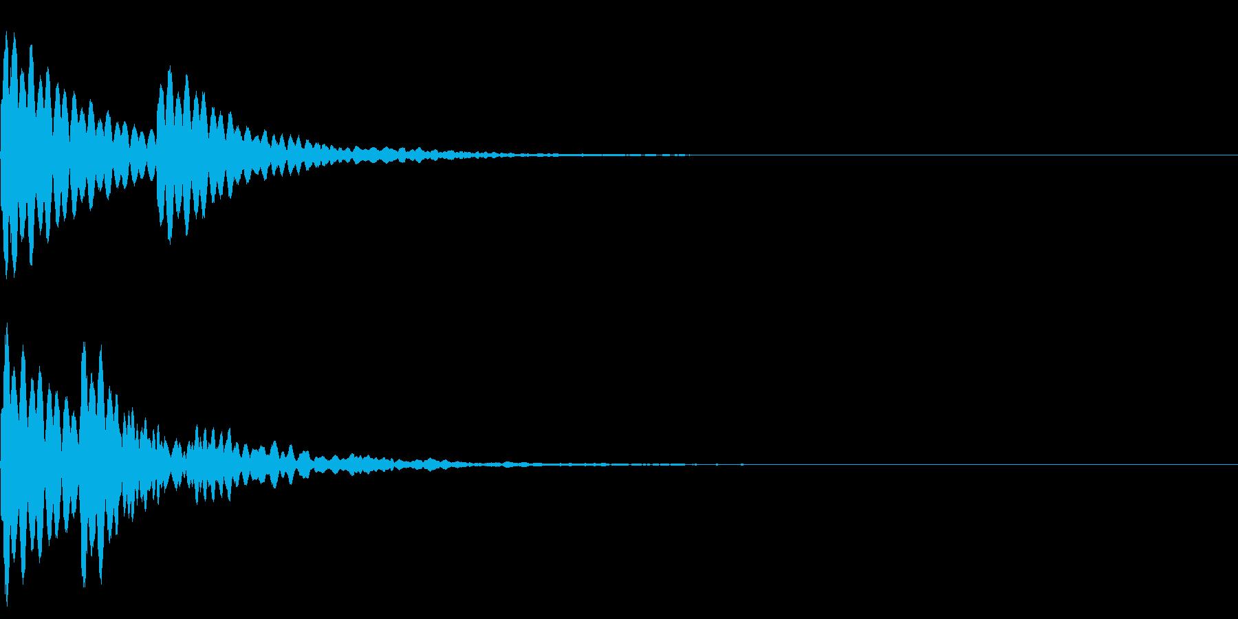 水 波紋 水面 音の広がりの再生済みの波形