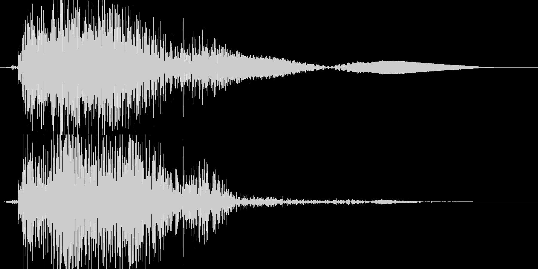 ピシュッの未再生の波形