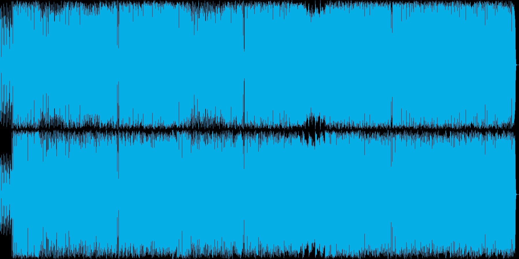 エッジの効いたROCK 生演奏の再生済みの波形