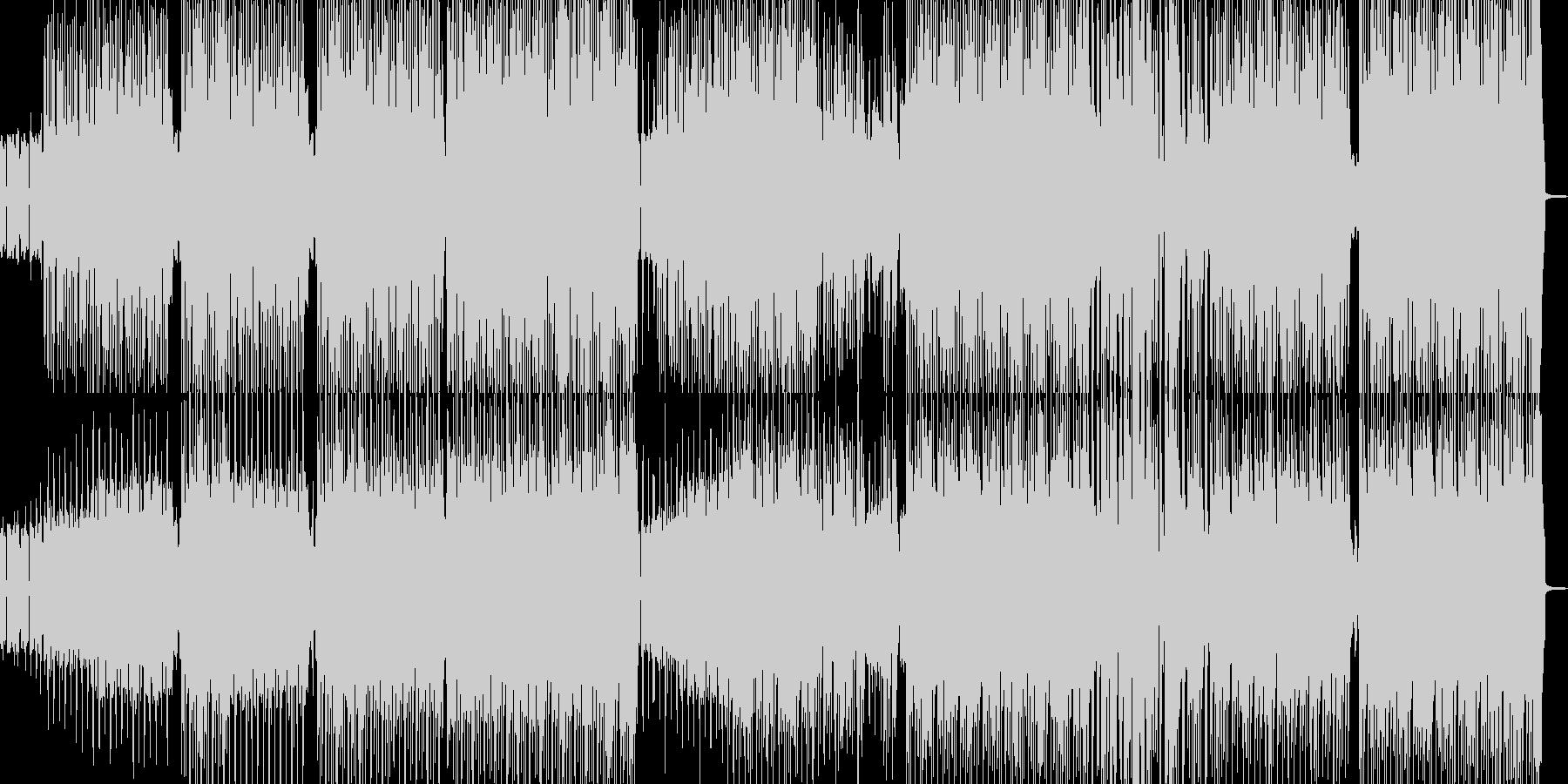 ファンキーでダチ公イメージのヒップホップの未再生の波形