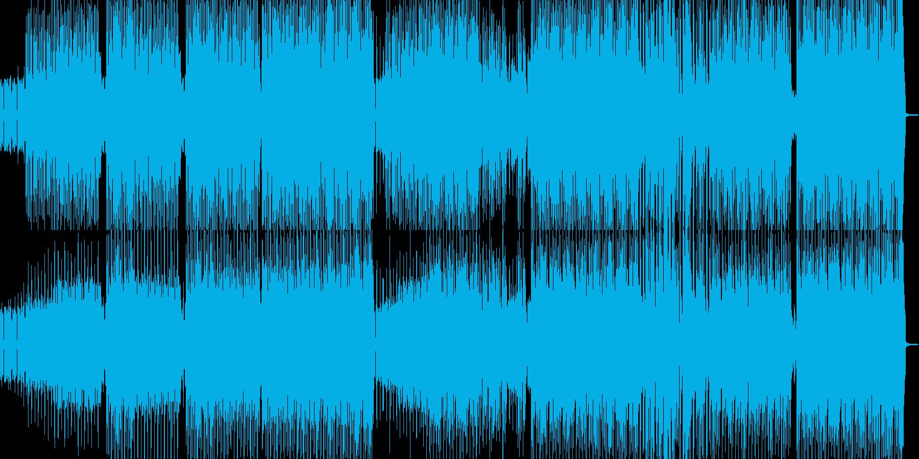 ファンキーでダチ公イメージのヒップホップの再生済みの波形