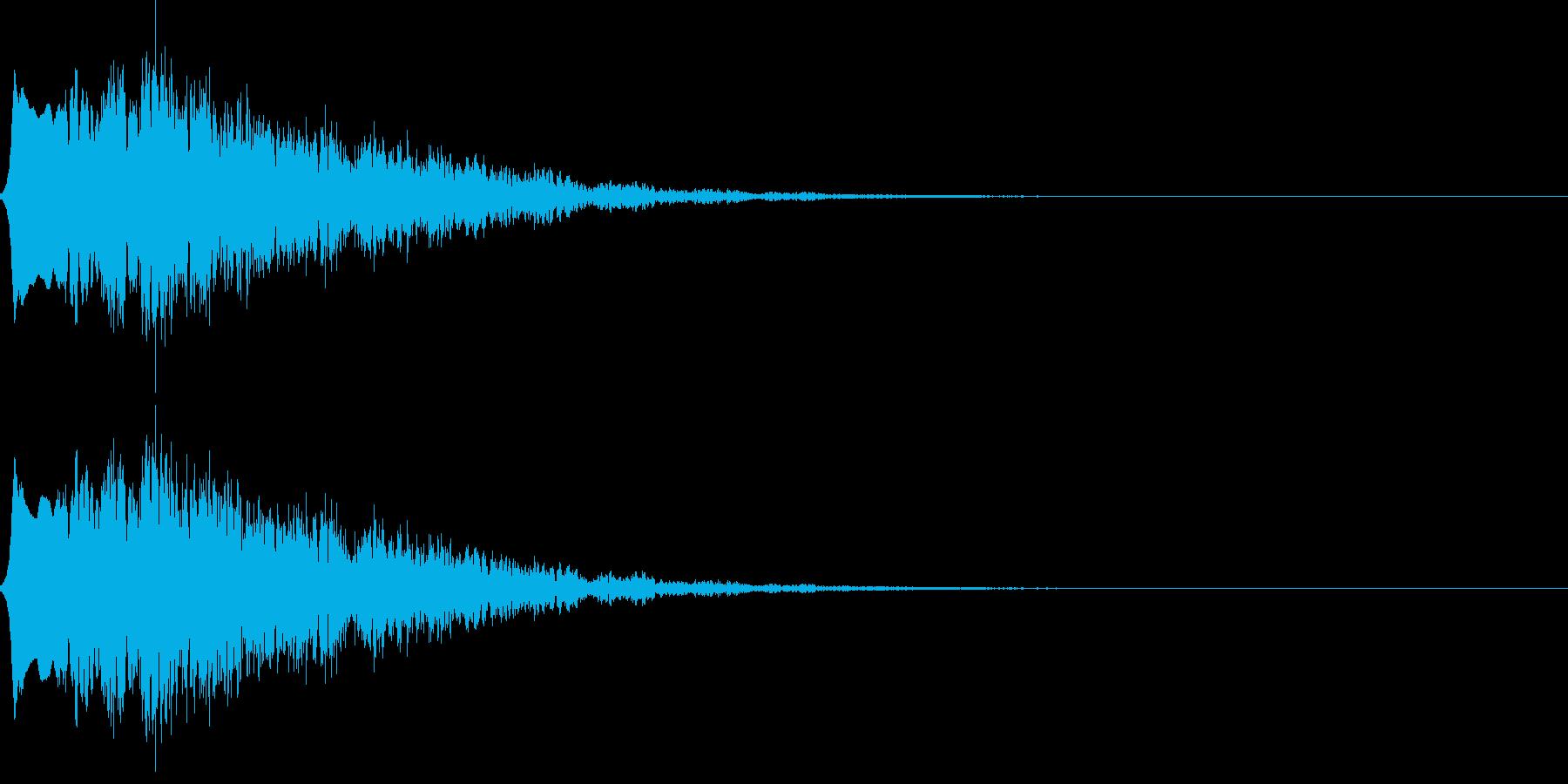 怪しい音03の再生済みの波形