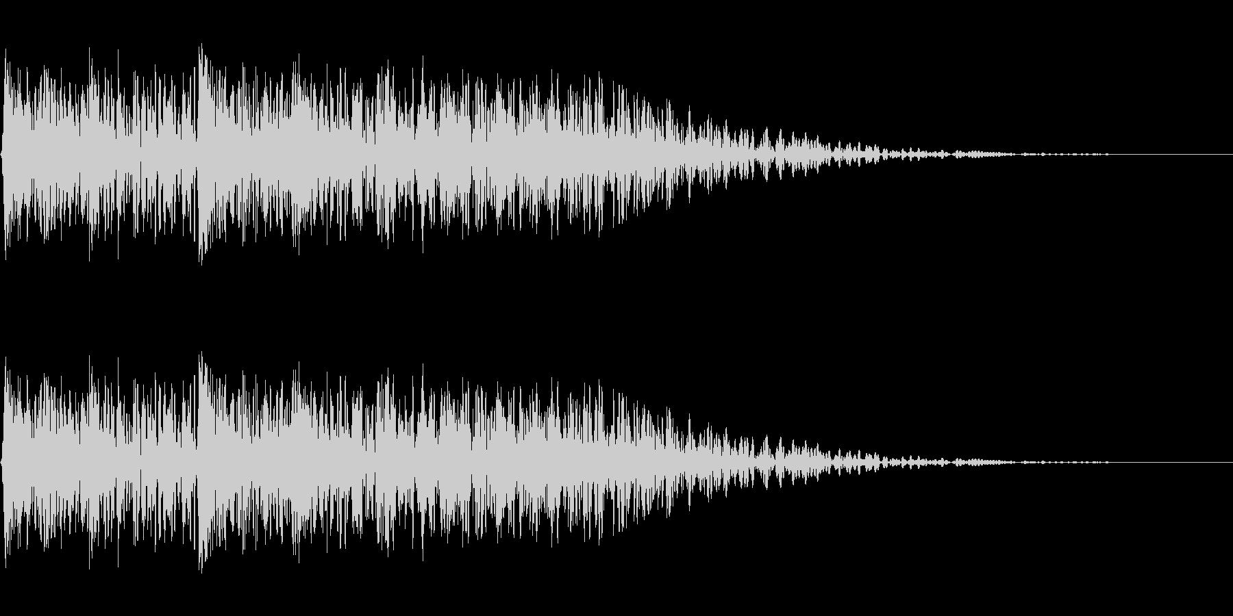 メカ挙動、衝撃音(ガチャギュルル)の未再生の波形