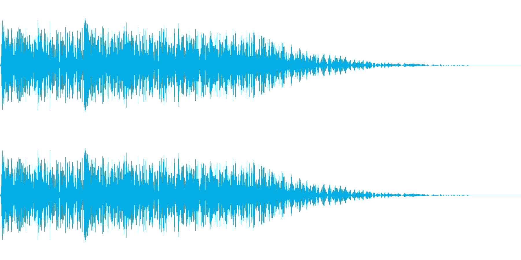 メカ挙動、衝撃音(ガチャギュルル)の再生済みの波形