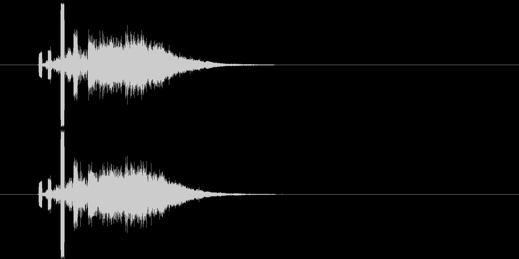 何かが入る音(特にお金)の未再生の波形