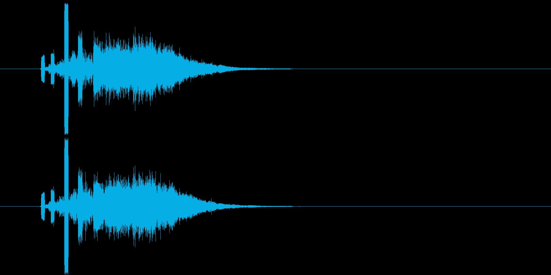 何かが入る音(特にお金)の再生済みの波形
