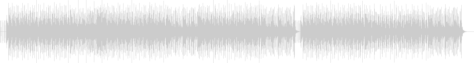 明るい感じのヒップホップ系の曲の未再生の波形