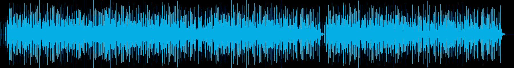 明るい感じのヒップホップ系の曲の再生済みの波形
