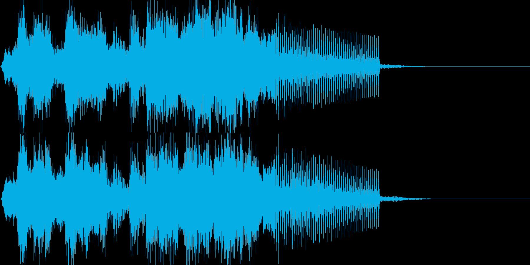 勇ましいファンファーレ系の再生済みの波形