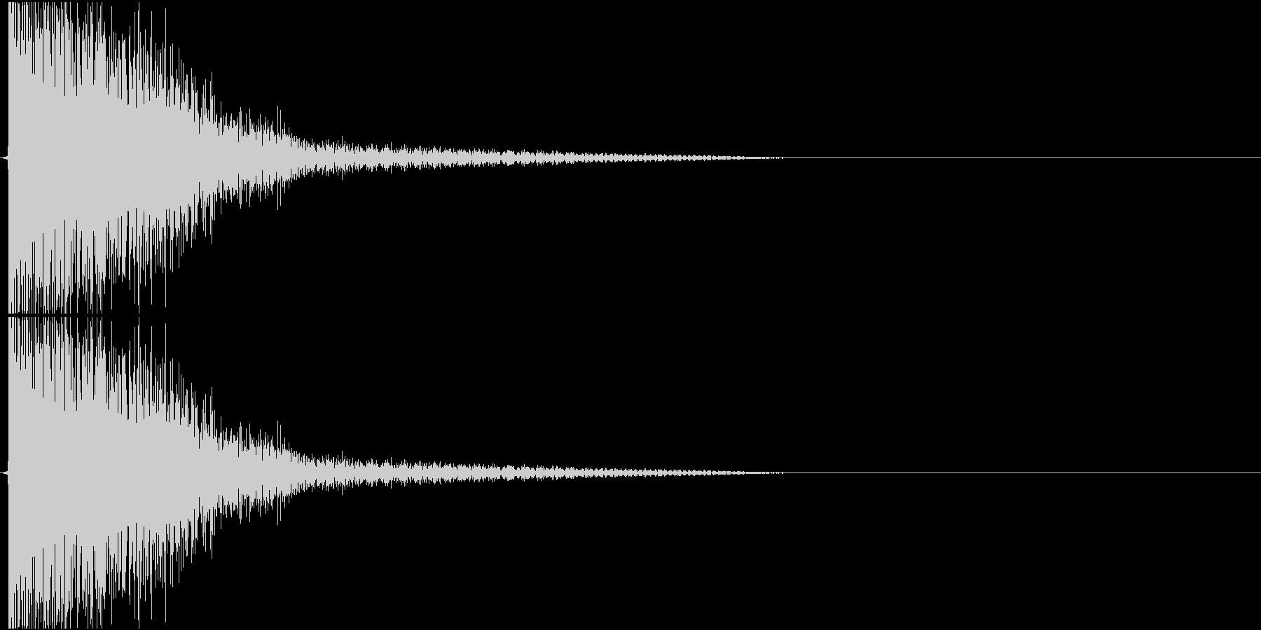Katana 日本刀のしなやかな斬撃音の未再生の波形
