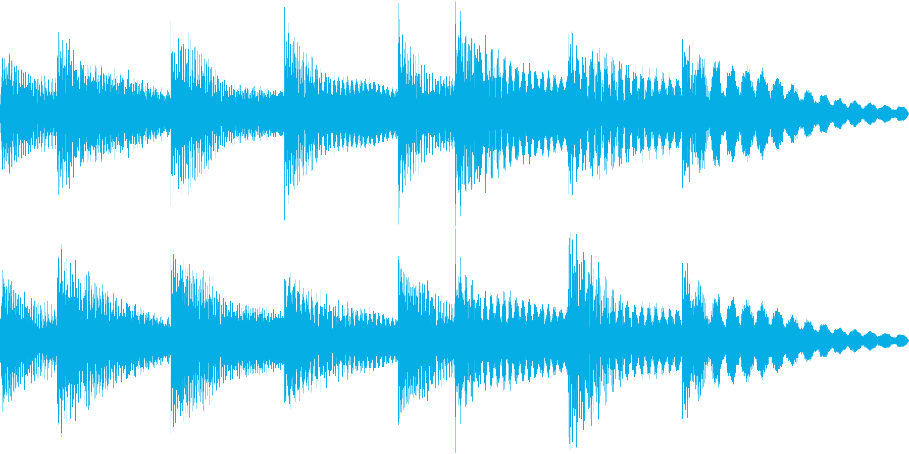 シンプルベル お知らせ ハテナ ? 14の再生済みの波形