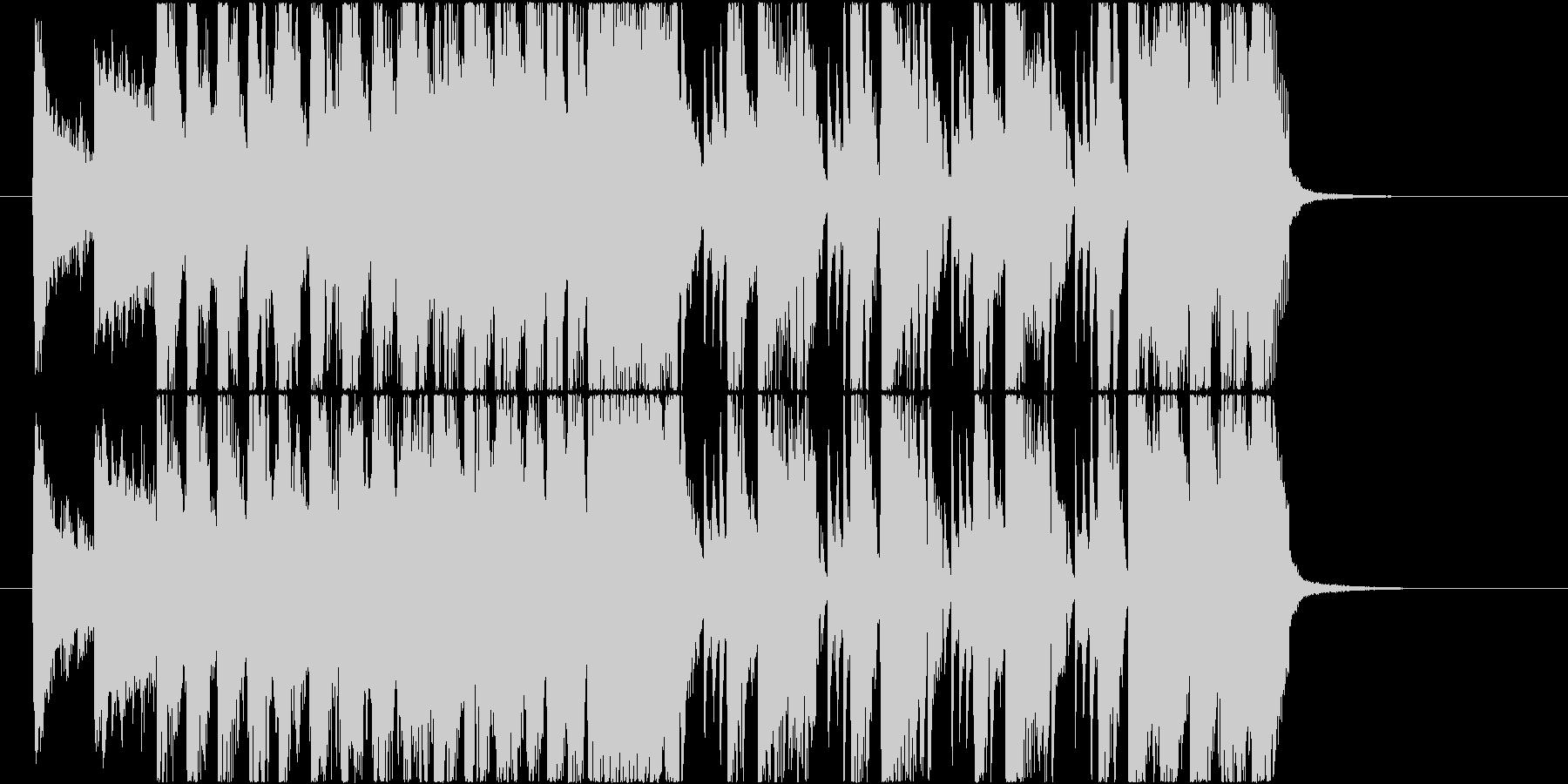 派手なEDM風の登場系ファンキージングルの未再生の波形