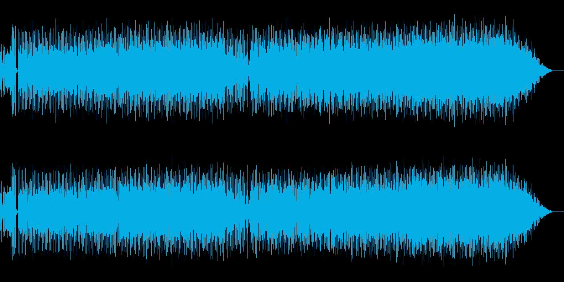 未来へのワクワク感エレクトロミュージックの再生済みの波形