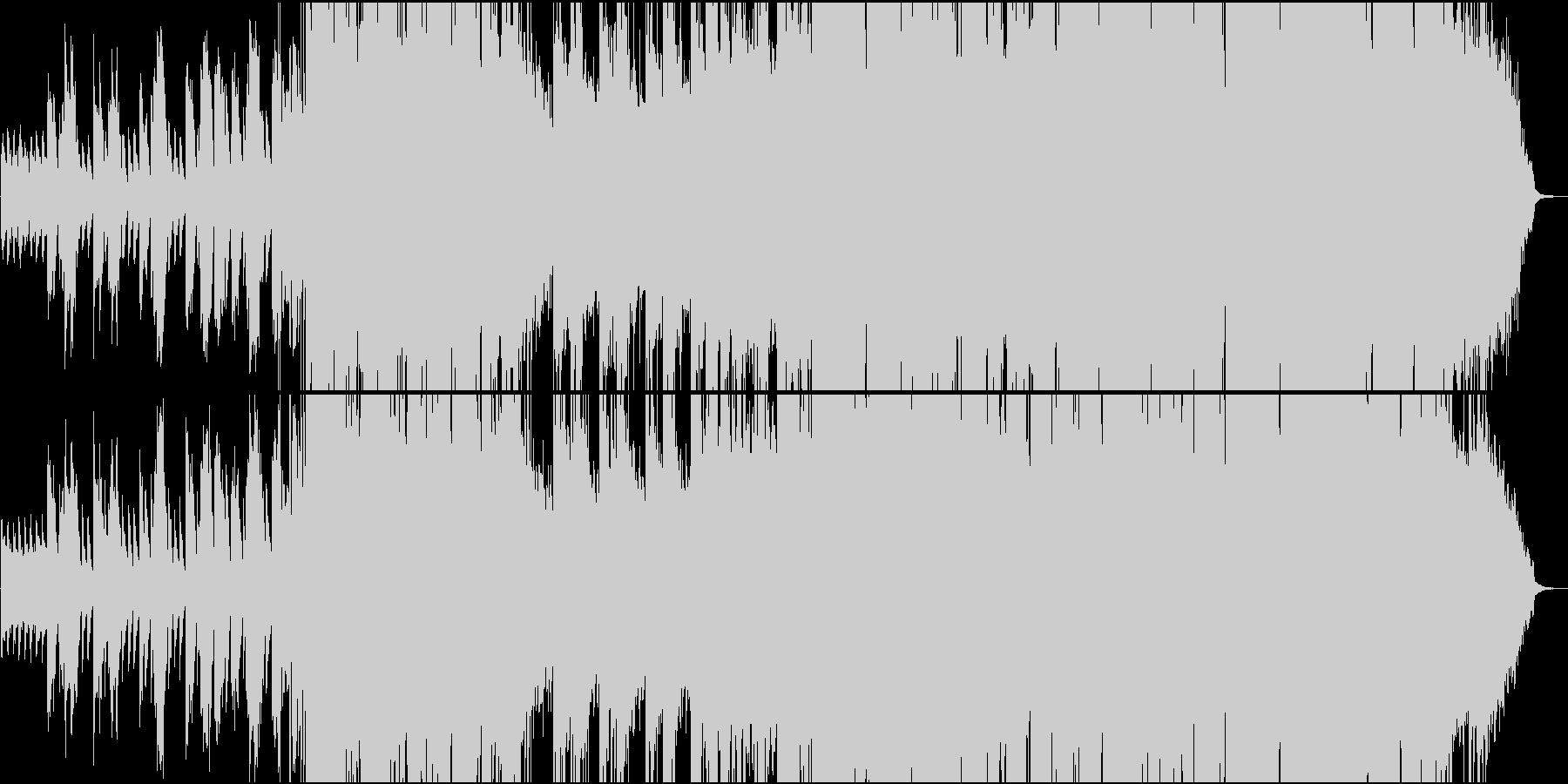 ピアノとストリングスの優しいバラードの未再生の波形