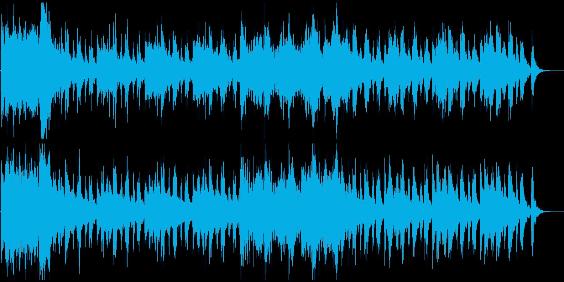 わくわくする壮大なオーケストラ曲の再生済みの波形
