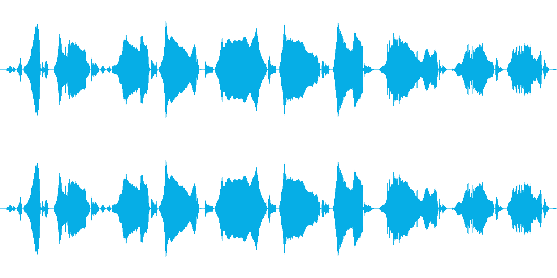 うっうわーんの再生済みの波形