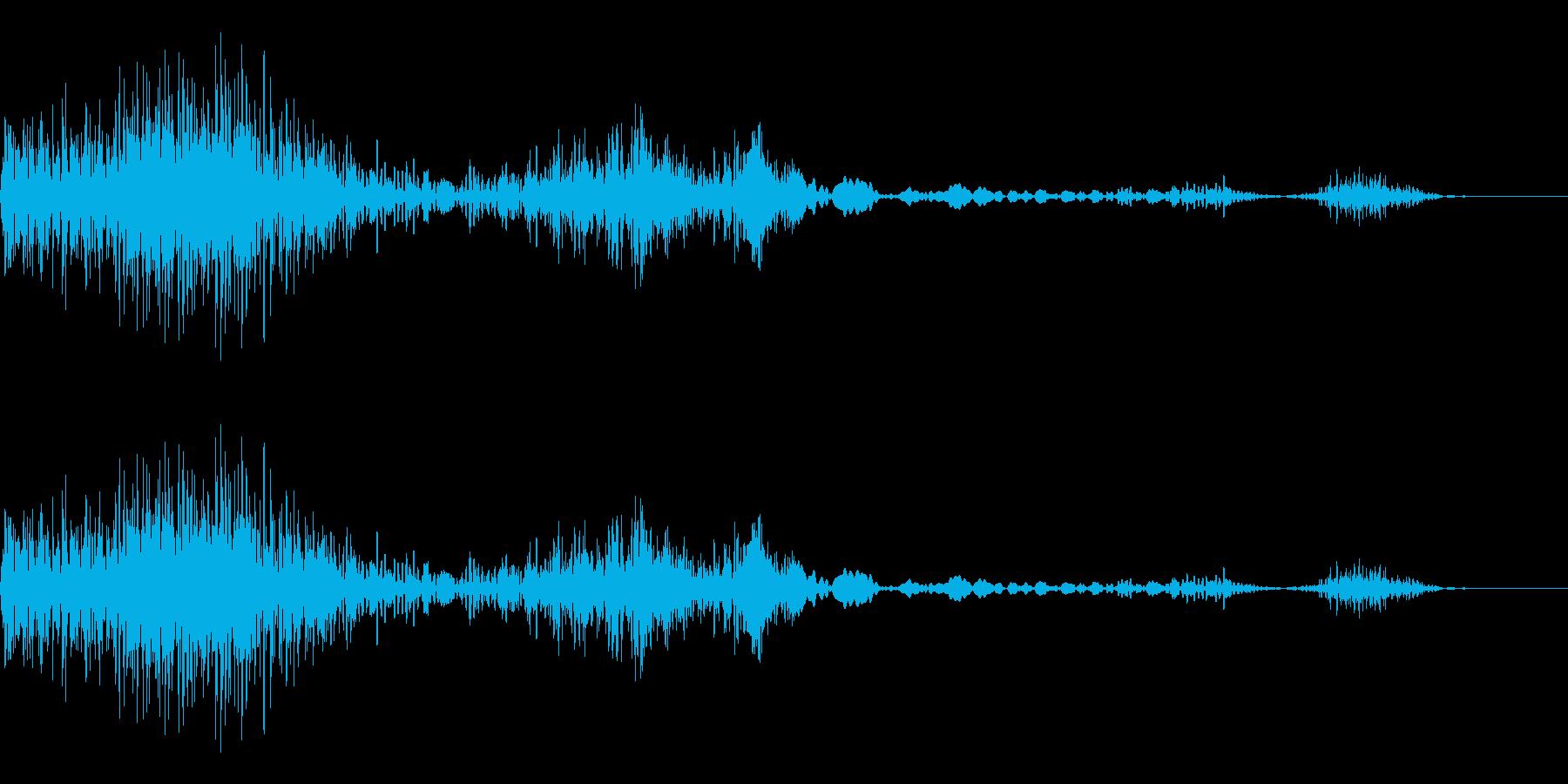 衝撃、ノイズ(バッシュワシュ)の再生済みの波形