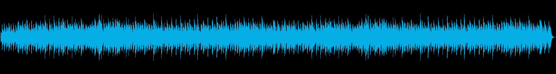 軽快で楽しげなピアノ曲の再生済みの波形