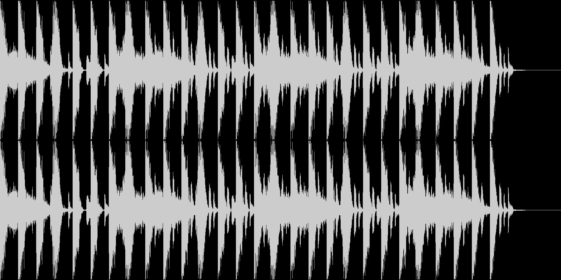 雰囲気を感じるイントロBGMの未再生の波形