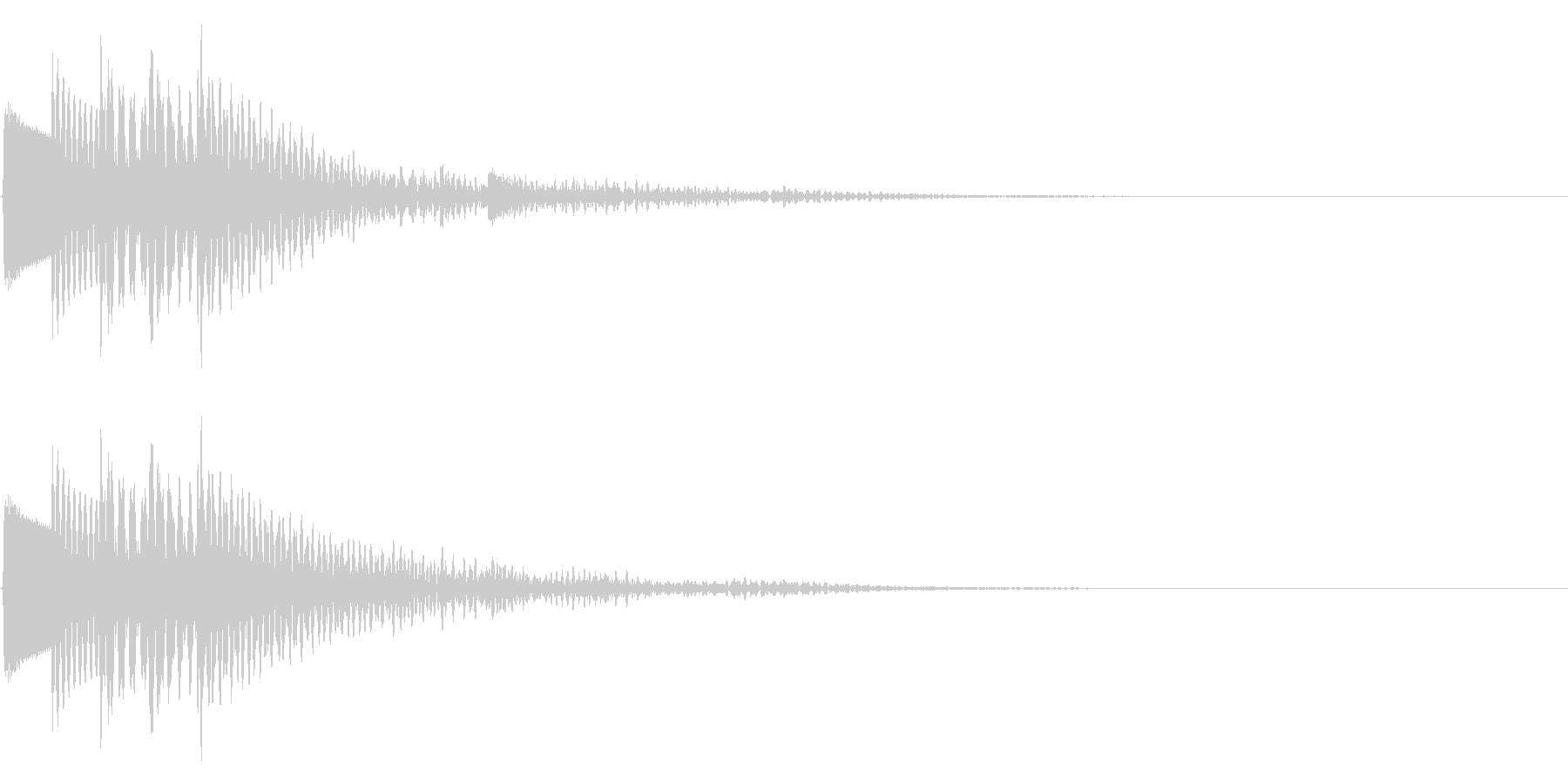 木琴(マリンバ、カリンバ)のような音で…の未再生の波形