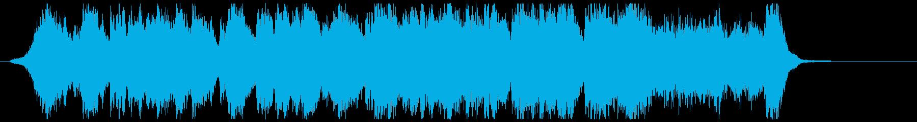 オープニングに最適な重厚ファンファーレの再生済みの波形