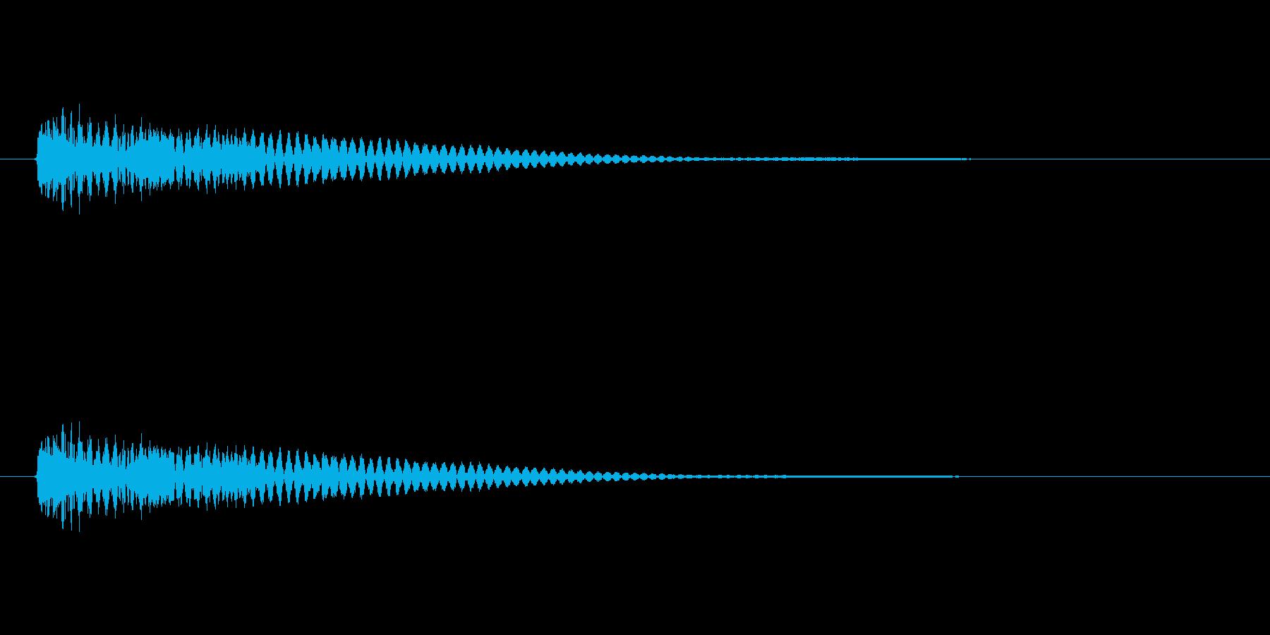 【ネガティブ09-1】の再生済みの波形