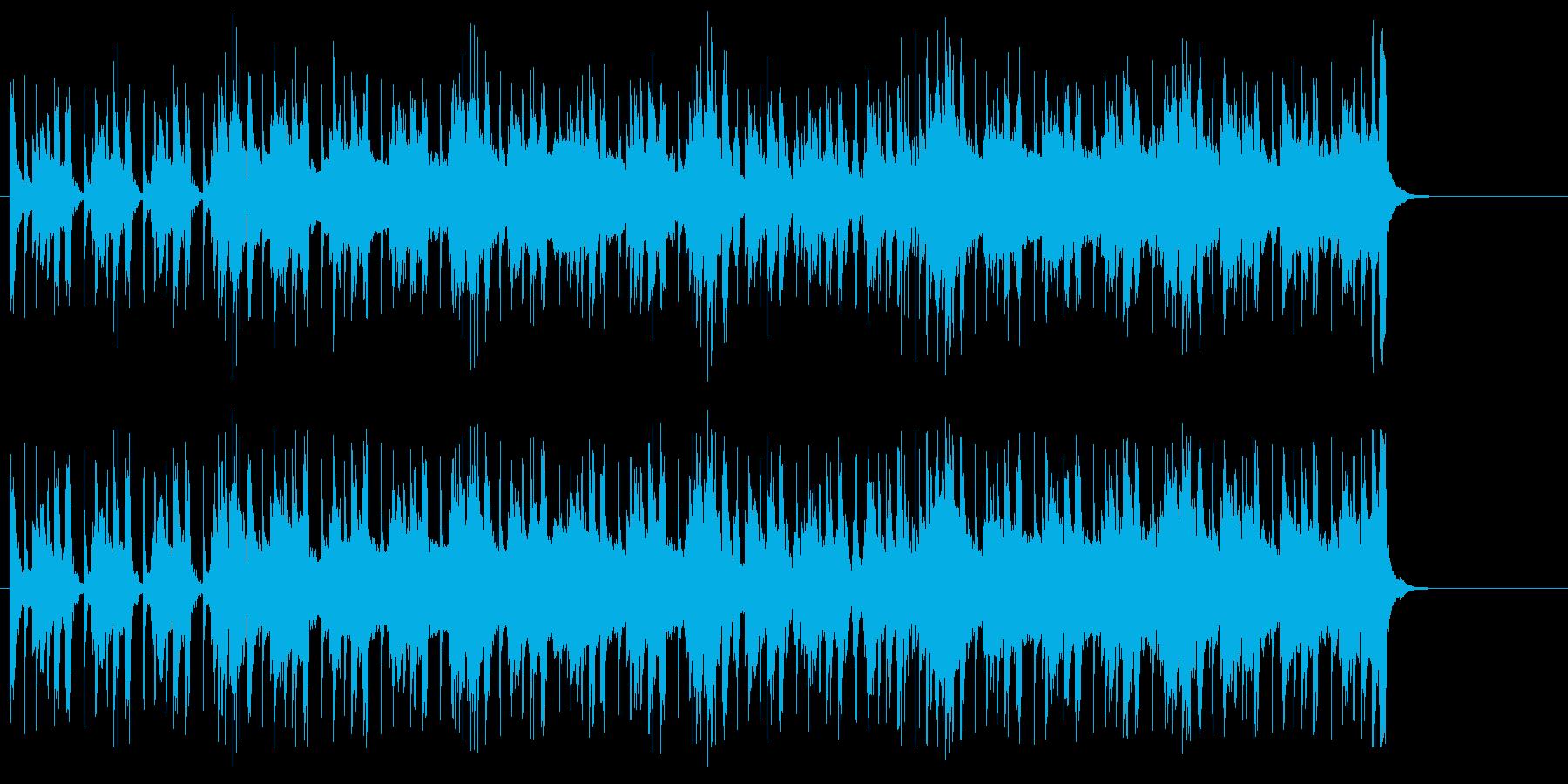 ヘヴィーなドキュメントタッチのBGMの再生済みの波形