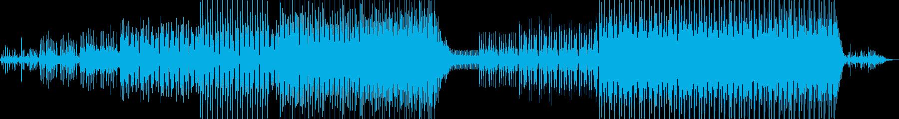 シリアスな雰囲気のEDMの再生済みの波形