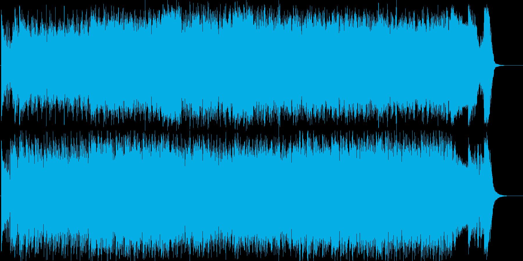 エキサイティングでわくわくなギターロックの再生済みの波形