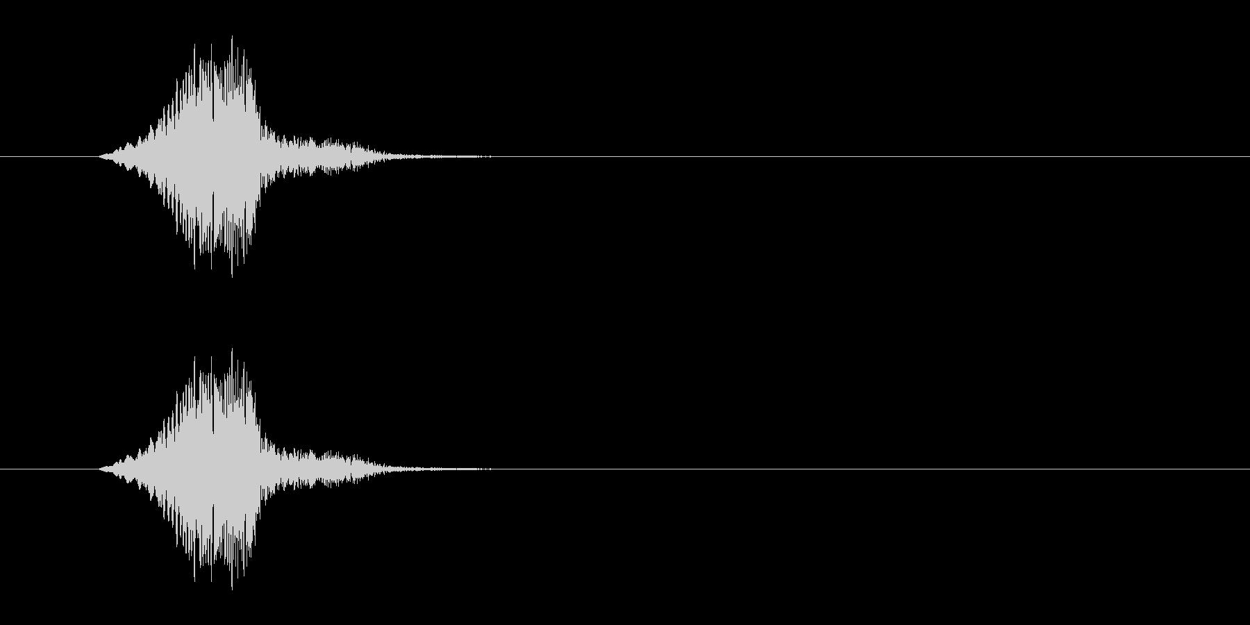 かわいい動作SEの未再生の波形