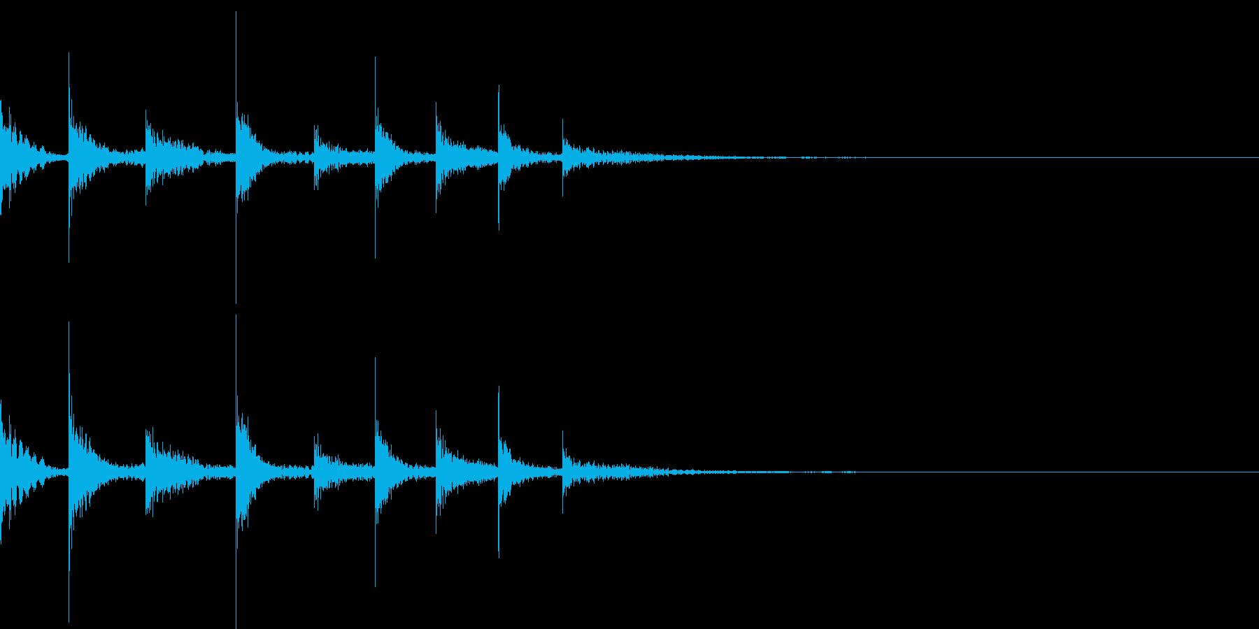 フレクサトーンの音の再生済みの波形