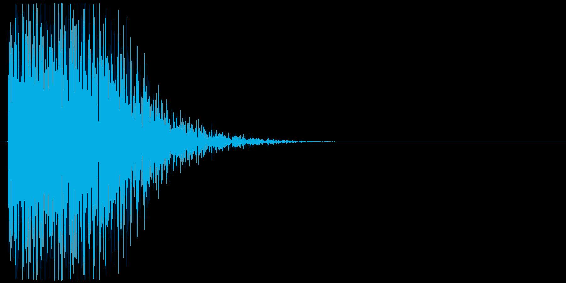 ドーン(大砲、戦車、爆発)の再生済みの波形
